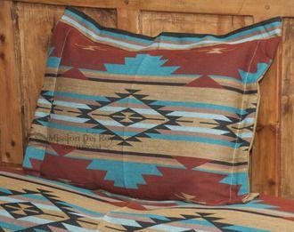 Southwestern Bedding Chevron Pillow Sham 24x28 -Rust (s7029c)