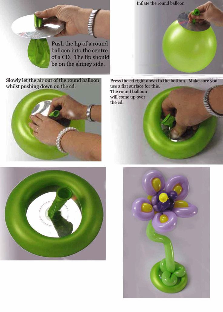 Awesome idea: Create a flower balloon using a CD for the base.