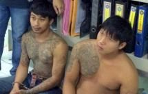 Both men confessed to committing the snatch thefts and both were charged with the thefts, said police. Photo: Patong Police