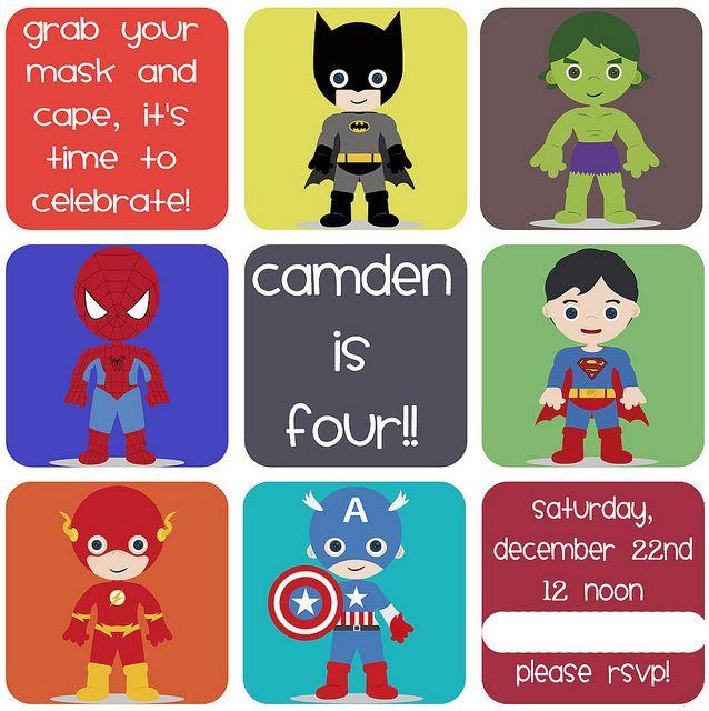 Cute little boy superhero party ideas (for my friends with little boys).  Via Meet the Dubiens blog