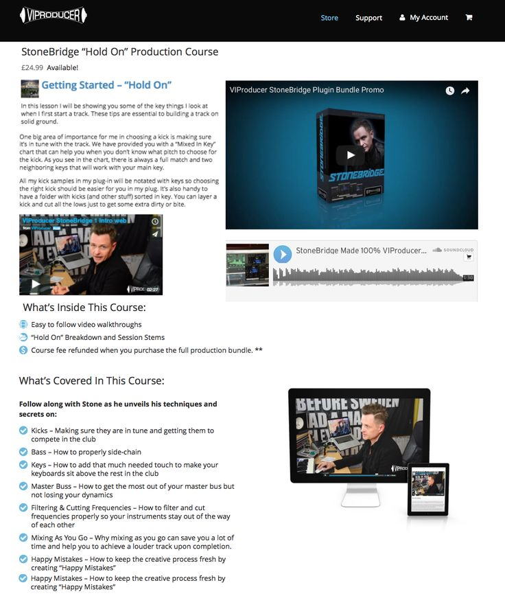 I went in with the awesome guys over at VIProducer and did a production course using my track StoneBridge,  Matt Aubrey & Holevar ft Hassan Watkins - Hold On showing some secrets, tips and tricks. Available here and you will get a discount getting the full instrument if you rock the course :-) http://viproducer.com/shop/stonebridge-hold-production-course/ #stonebridge #stonebridgeproductions #studio #remix #production
