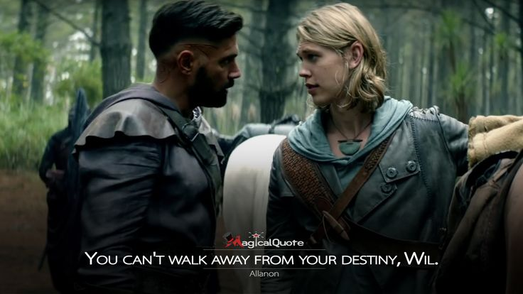 #Allanon: You can't walk away from your destiny, Wil.  More on: http://www.magicalquote.com/series/the-shannara-chronicles/ #TheShannaraChronicles #theshannarachroniclesquotes