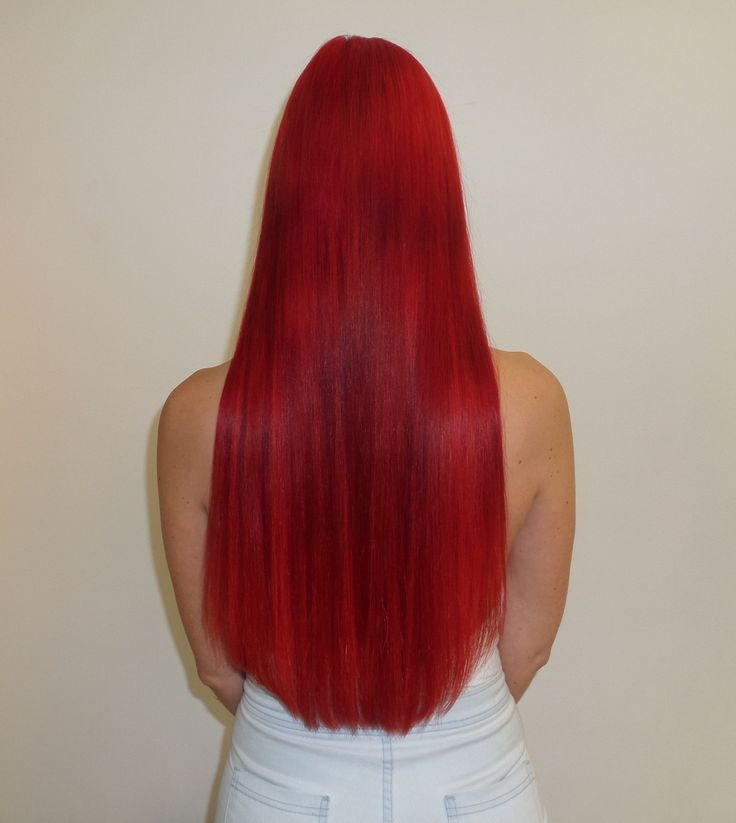 Magical, rich red, long hair with the help of great hair colour and hair extensions matched to the colour. Deidre Holtby is a hair extension guru!