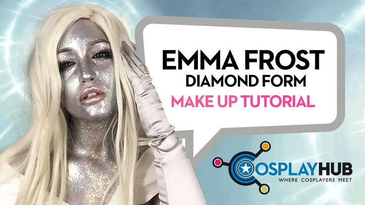 Emma Frost, The White Queen, Diamond Form make up tutorial by @Sara Rouge #Emma #Frost #Diamond #WhiteQueen #MarvelComics #MarvelCosplay #cosplayergirl #cosplay #cosplaymakeup #makeuptutorial
