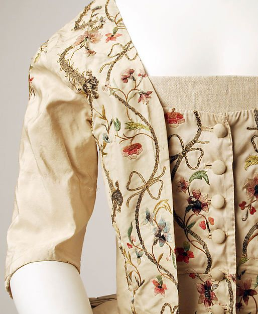 Caraco (image 3)   French   1780   silk, metallic thread   Metropolitan Museum of Art   Accession Number: 1978.85.1