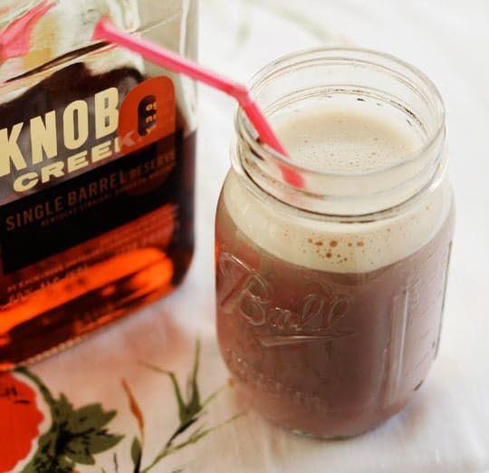 Double Chocolate Bourbon Egg Cream