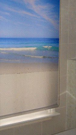 We can print your images onto roller blinds - a beach scene can turn your windows into an exotic location.