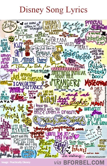 Some Famous Disney Song Lyrics… Can You Spot Your Favorite?