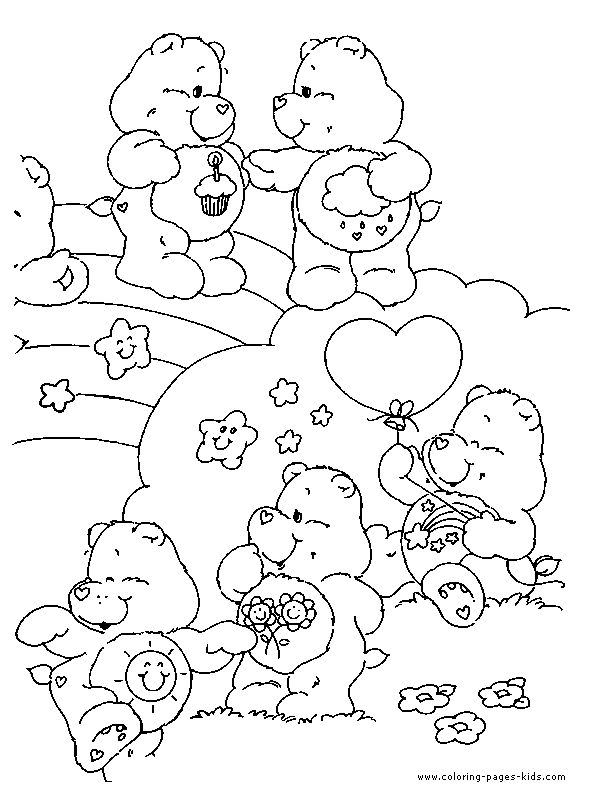 best care bear coloring pages - photo#25