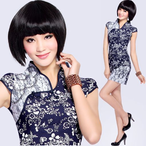 Short Jean Cheongsam / Qipao / Chinese Dress