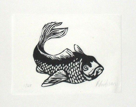 Best printmaking fish sea life images on pinterest