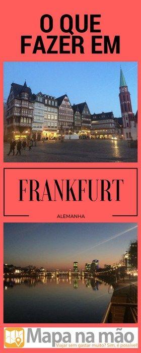 Um dia em Frankfurt, Alemanha - nosso roteiro - Mapa na mão