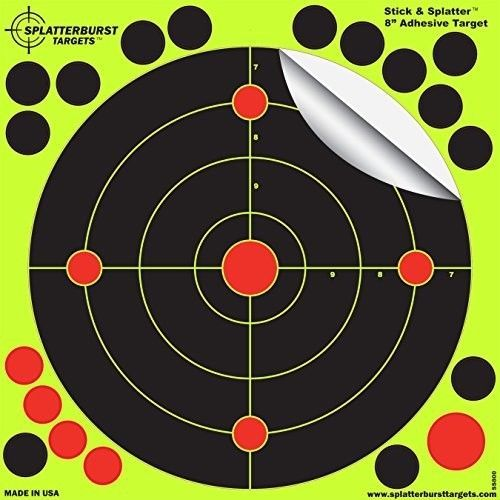 Shooting Targets Paper Target Rifle Stick & Splatter Reactive Self Adhesive NEW #SplatterburstTargets