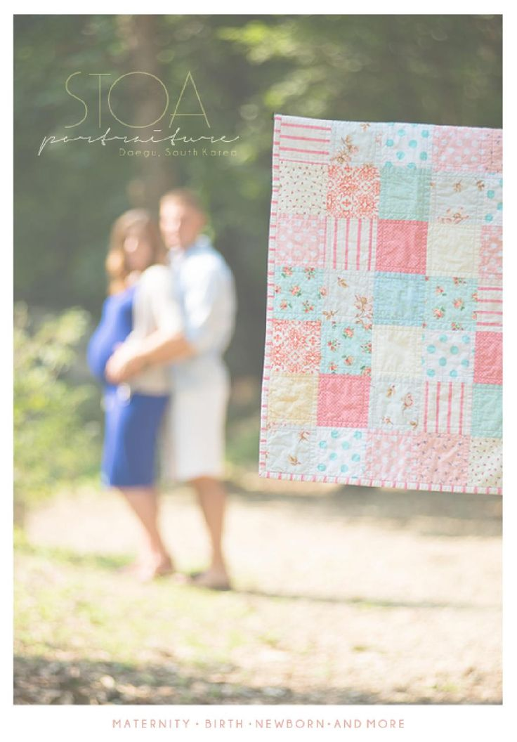 SWEET QUILT | Maternity Session By: Daegu Photographer IZA WIEBE    To book a session go to www.creativostoa.com  #DaeguLifestyle#Daegubabies#GenderReveal