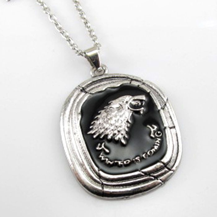 Popular Game of Thrones House Stark Talisman Pendant Wolf Head Necklace 1PC  #new #rings