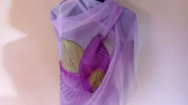 purple leaves by SilviaRaisArts on Etsy
