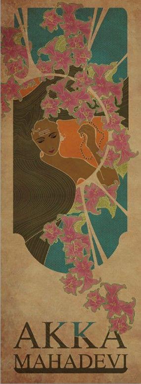 Akka Mahadevi by Smruthi Eswar | Size (W x H): 14 x 36 inch