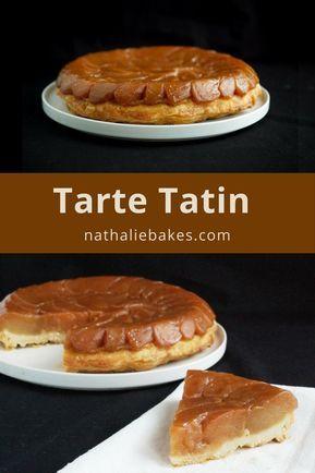 Recette de tarte Tatin version Christophe Michalak: une pâte feuilletée croustillante surmontée de pommes ultra fondantes et caramélisées. Une tuerie! | nathaliebakes.com