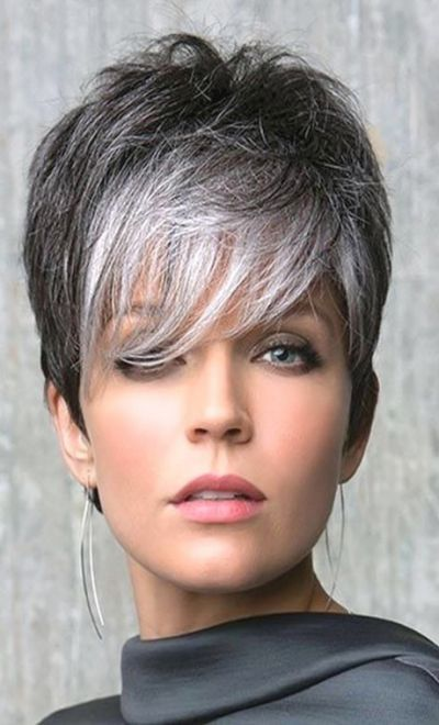Short Curly Grey Hairstyles | Fade