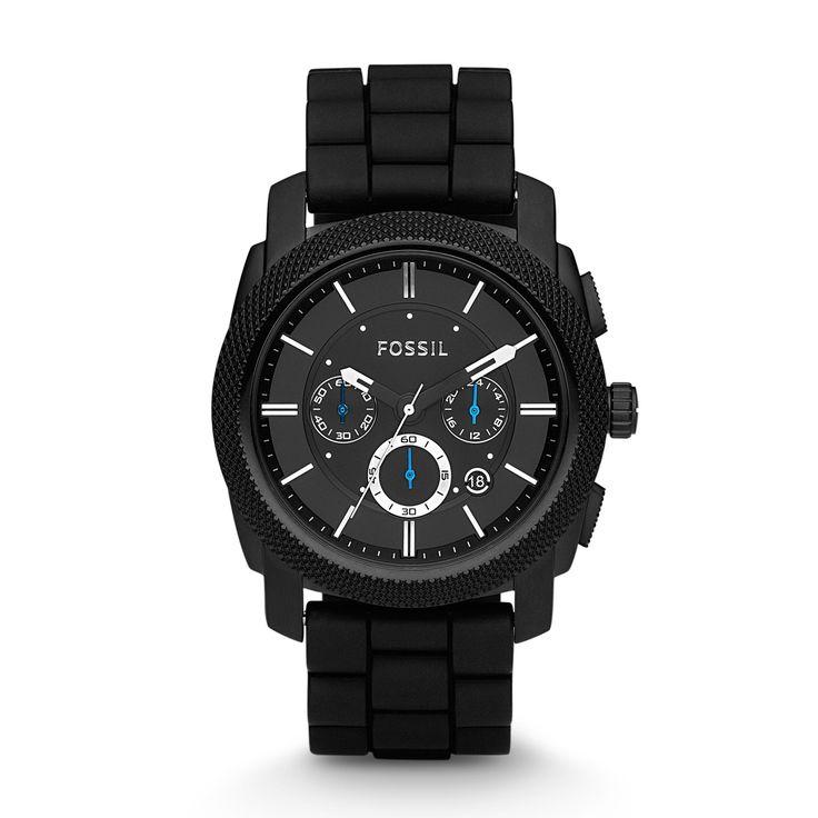 Ein ganz markanter Chronograph ganz in Schwarz. Hell funkeln Zeiger und Ziffern aus dem Zifferblatt heraus. Eine Uhr für Liebhaber sportlicher, markanter und großer Uhren. So lassen Sie Ihre Fossil-Uhr FS4487 gravieren. mehrzeilig mit Logo im Bogen seitlich Bestellen Sie jetzt die Fossil FS4487 mit persönlicher Gravur.