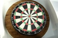 Dartboard Cake : A Vanilla cake with thick vanilla buttercream.  All hand made including wood effect fondant :o)