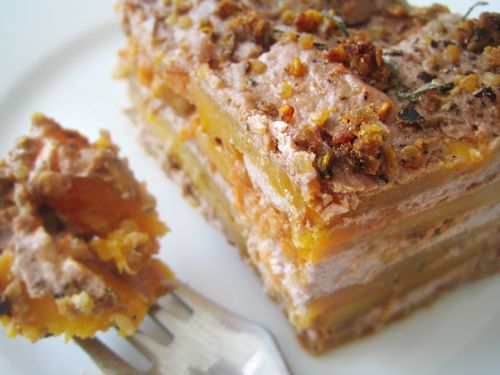 Butternut squash lasagna. This is gluten and dairy free but you could definitely use regular noodles or a combo of both, and add whatever fillings you like! Italian chicken sausage maybe?