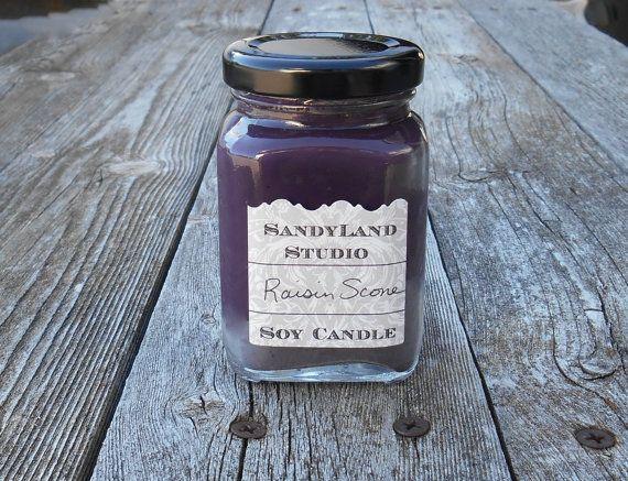 Raisin Scone Soja Kerze Square viktorianischen von SandyLandStudio