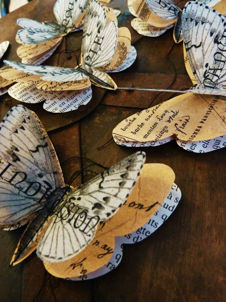 Paper Butterflies : use the same punch and different papers