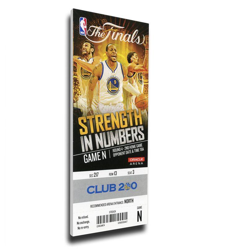 Golden State Warriors Wall Art - 2015 NBA Finals Game 2 Canvas Mega Ticket