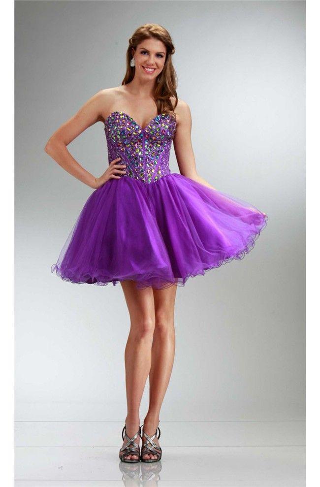 Mejores 23 imágenes de Short purple prom dresses en Pinterest ...
