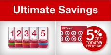 Target REDcard (debit or credit options) = save 5% on every purchase, get free shipping at Target.com, and get 30 extra days for returns!  Plus, Target will donate 1% to your school (register it here: https://www-secure.target.com/redcard/tcoe/home)