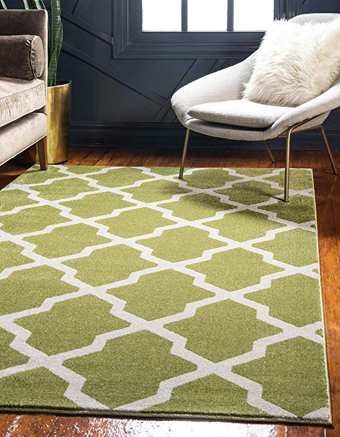 Amazon Com Unique Loom Trellis Collection Geometric Modern Navy Blue Area Rug 9 X 12 Home Kitchen Trellis Rug Green Area Rugs Area Rugs