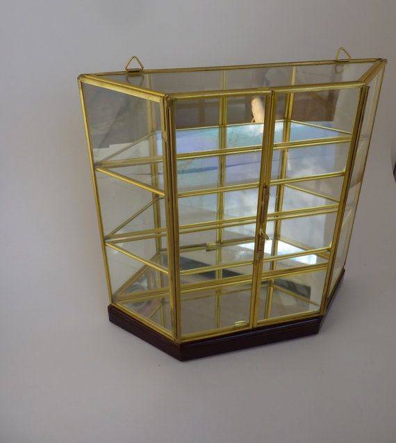 Glass Mirror Display Cabinet For Collectibles Miniatures