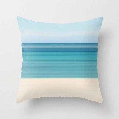 Coastal Decor Throw Pillow Beach Cottage Living Room by klgphoto, $40.00
