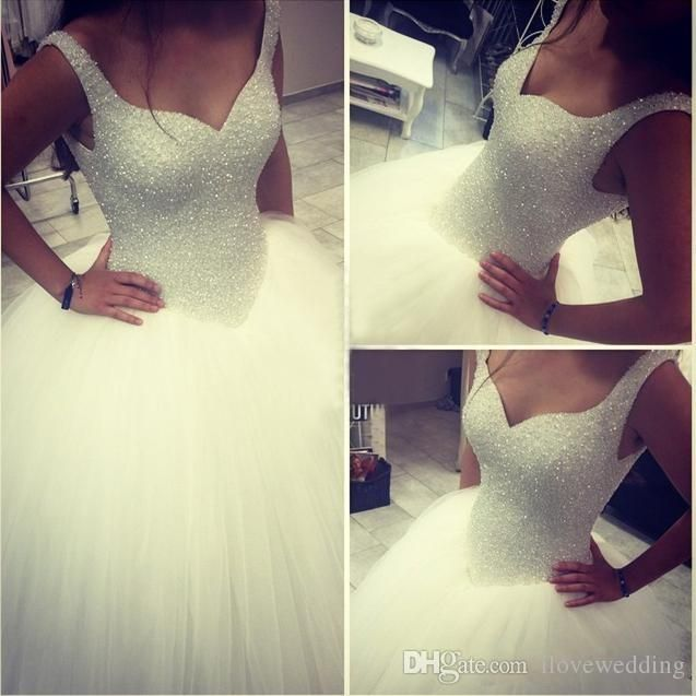 Beautiful Dresses Acutal Image Ball Gown Wedding Dresses Bling Bling Beads Bodice Puffy Tulle Bridal Gowns 2015 Plus Size Wedding Dress Vestido De Novia Expensive Wedding Dresses From Ilovewedding, $191.63| Dhgate.Com