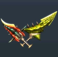 MH3U Dual Blades Renders - The Monster Hunter Wiki - Monster Hunter, Monster Hunter 2, Monster Hunter 3, and more