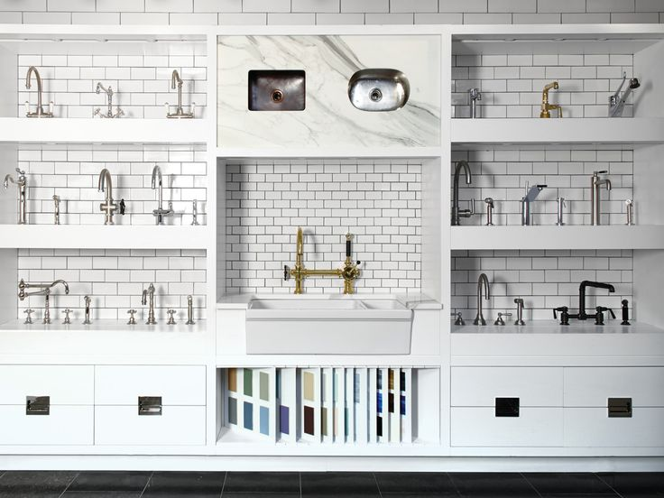 In Its Must See Du0026D Building Flagship Showroom, Waterworks Kitchen Offers A  Full Range Of Optionsu2014300 In All, From Cabinets, Hardware, Surfaces, Anu2026