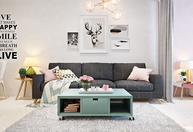 inspirational-quote-and-deer-wall-motifs-kitschy-and-cute-lounge-area