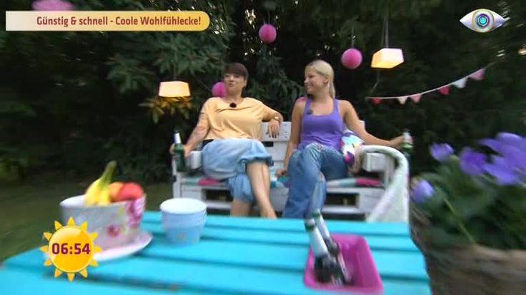 Kreativbloggerin Ricarda zeigt Yvonne, wie sie in ihrem Garten schnell eine entspannte Lounge entstehen lassen kann - und das mit etwa 150 Euro.