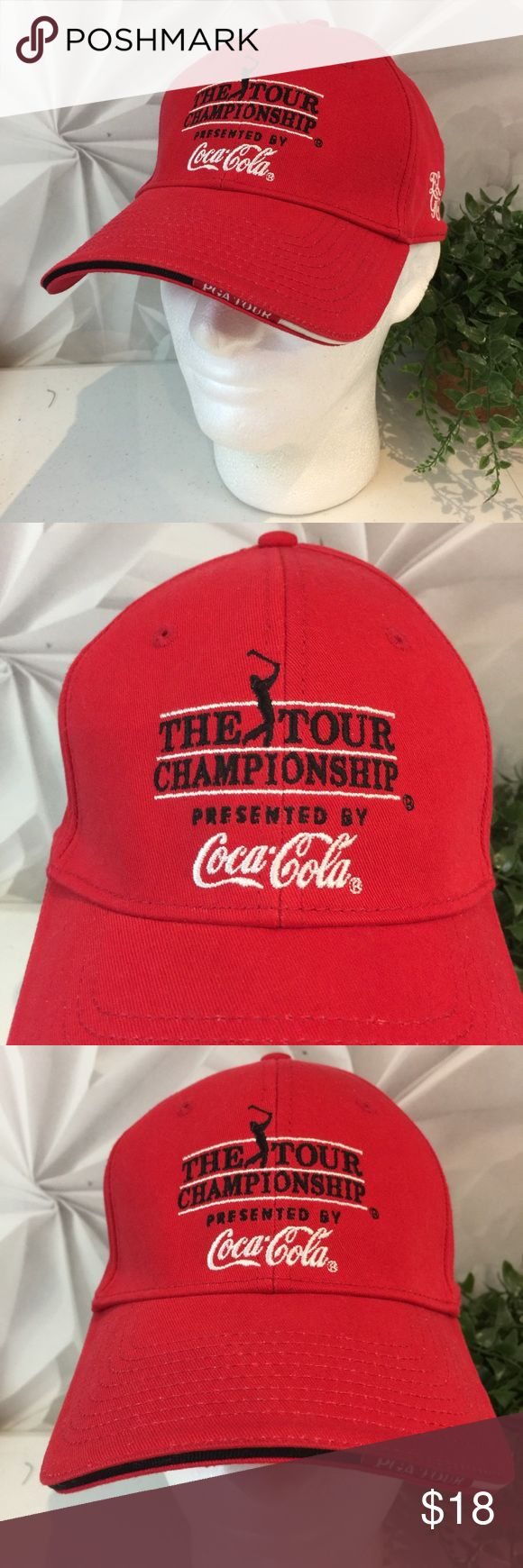 Coca Cola The Tour Championship Red Golf Hat This listing is for a Coca Cola The Tour Championship Red Golf Baseball Hat OS  We LOVE finding unique and special hats ... of all kinds. Some are new and some have been pre-owned.   We sell NFL, NBA, NHL, and MLB hats. NCAA hats and NASCAR hats. And, we find other great hats like this one ...  Comes from a smoke free and pet free environment. The Game Accessories Hats