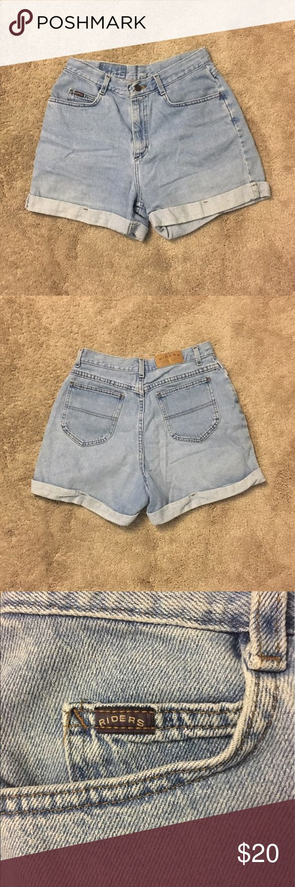 Vintage Levi's High Waisted Denim Shorts Vintage Levi's High Wasted Light Wash Denim Shorts, super flattering and comfortable, says 12 Medium on the tag. 15.5 inches across waist, 13 inch rise, 4.5 inch inseam. Levi's Shorts Jean Shorts