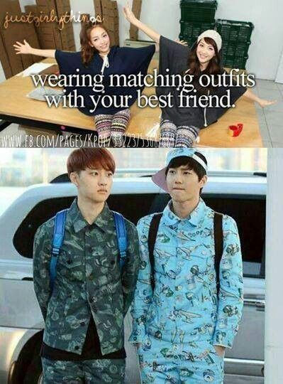 """lol d.o looks so ashamed""- Being Best friends Looks Fun Lol"