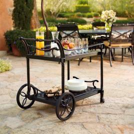 Carlisle Serving Cart in Onyx Finish