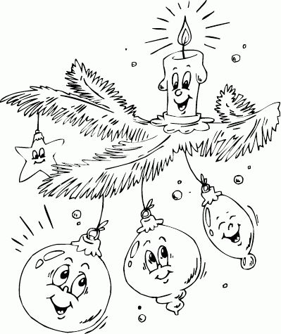 ornaments and candle on branch coloring page - Coloring.com /bbnjeans/embroidery-vintage-patterns-2/ back