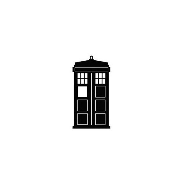 Tiny Tardis temporary tattoo - Doctor Who ($6) ❤ liked on Polyvore