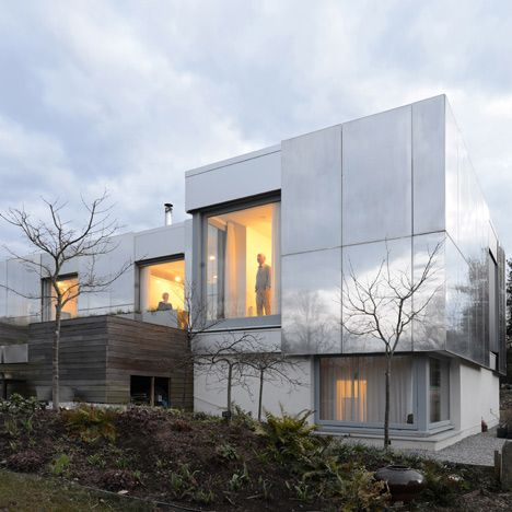 large aluminium windows to house in West England by Paul Archer Design