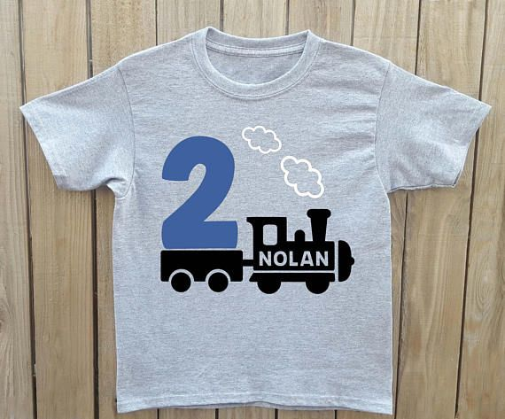 Train Birthday Shirt Personalized Toddler Boy Party Theme