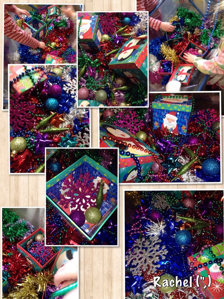 "Christmas sensory tray from Rachel ("",)"