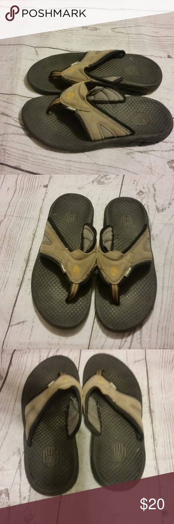 Teva Mens Flip Flops Size 9 Gently Used Teva Mens Flip Flops US Size 9 EU Size 42  Trusted Seller. Fast shipping.  Please check out my other listings. Items being added daily. Thanks for stopping in!  Posh By Design Teva Shoes Sandals & Flip-Flops