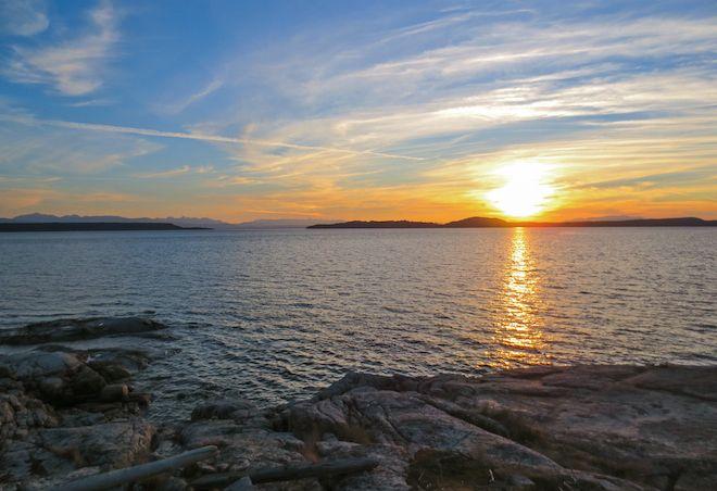 Sunset over Townley Island, Desolation Sound